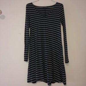 Express Black and Greg Striped Dress